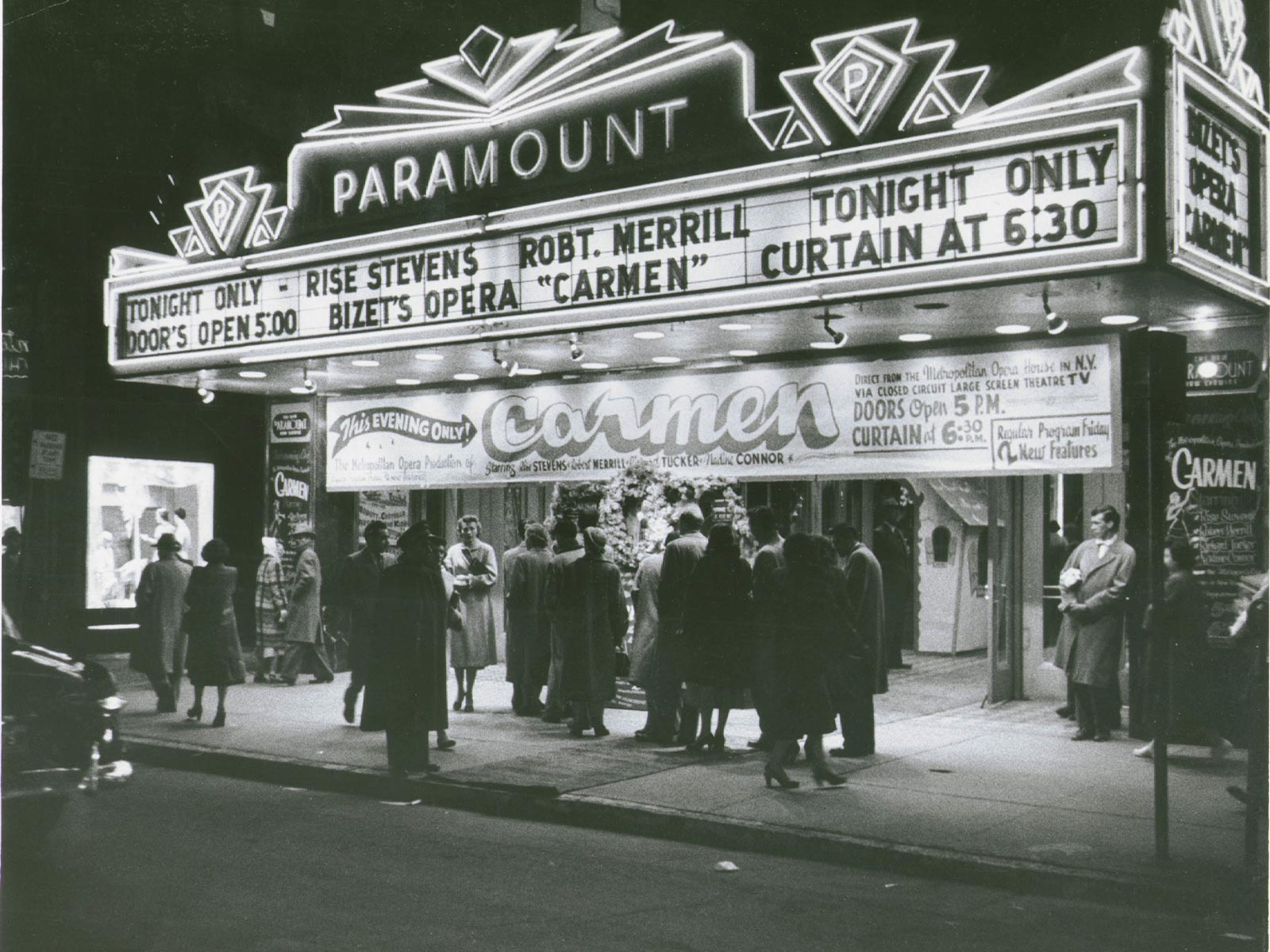 1952.12.11 Carmen telecast move theater marquee.jpg