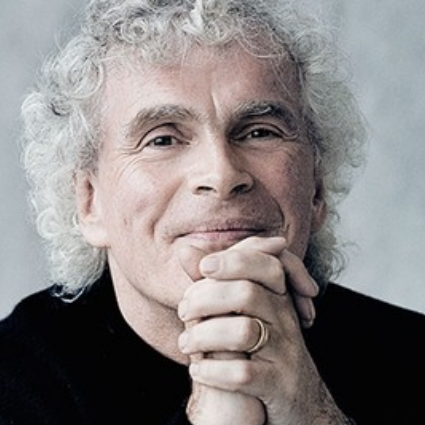 Headshot of Simon Rattle