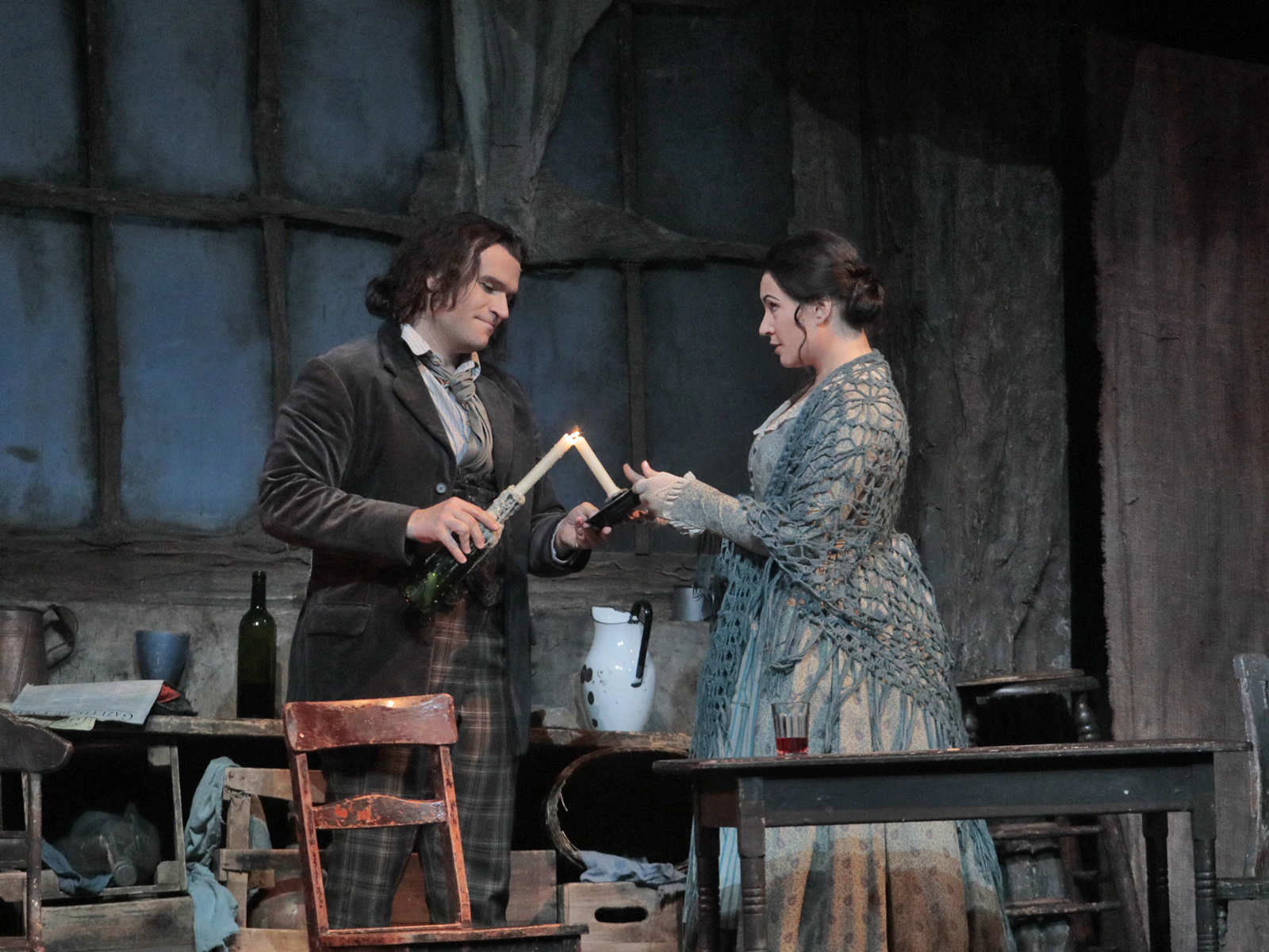 Michael Fabiano and Sonya Yoncheva in La Bohème