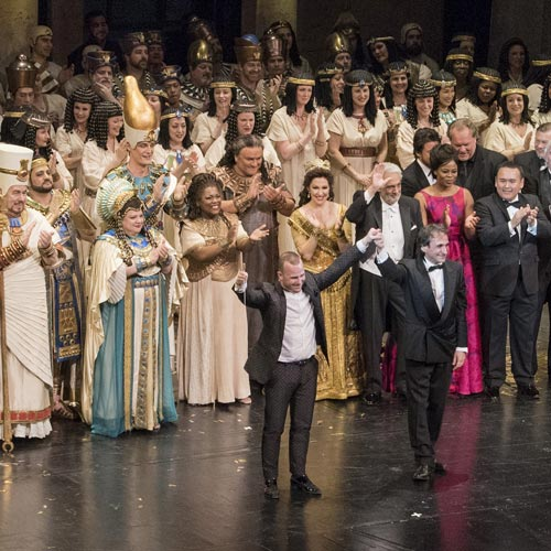 Curtain call at the Met 50th Anniversary Gala