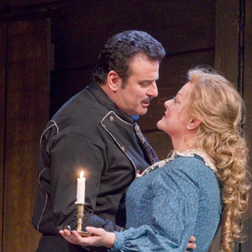 Marcello Giordani and Deborah Voigt in La Fanciulla del West