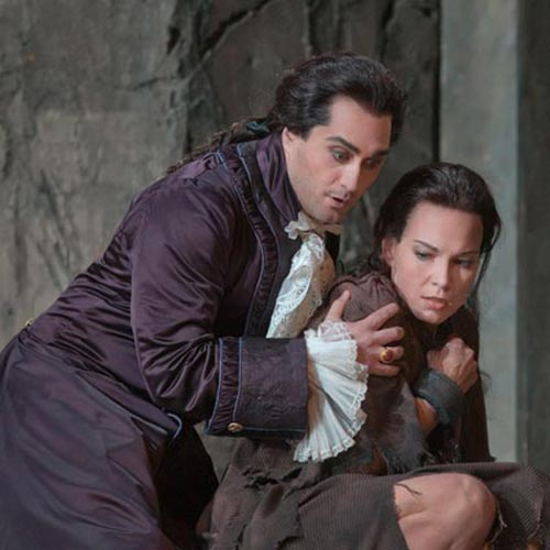Giuseppe Filianoti and Elīna Garanča in La Clemenza di Tito