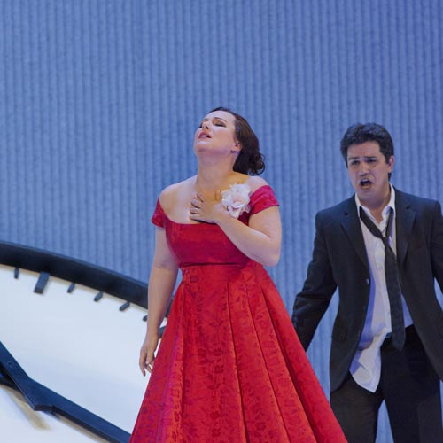 Diana Damrau and Saimir Pirgu in La Traviata