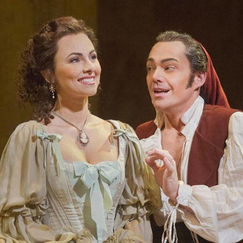 Isabel Leonard and Christopher Maltman in Il Barbiere di Siviglia