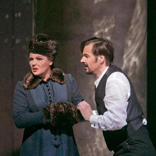 Anna Netrebko and Peter Mattei in Eugene Onegin